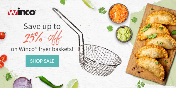 SAVE UP TO 25% OFF on Winco® fryer baskets!