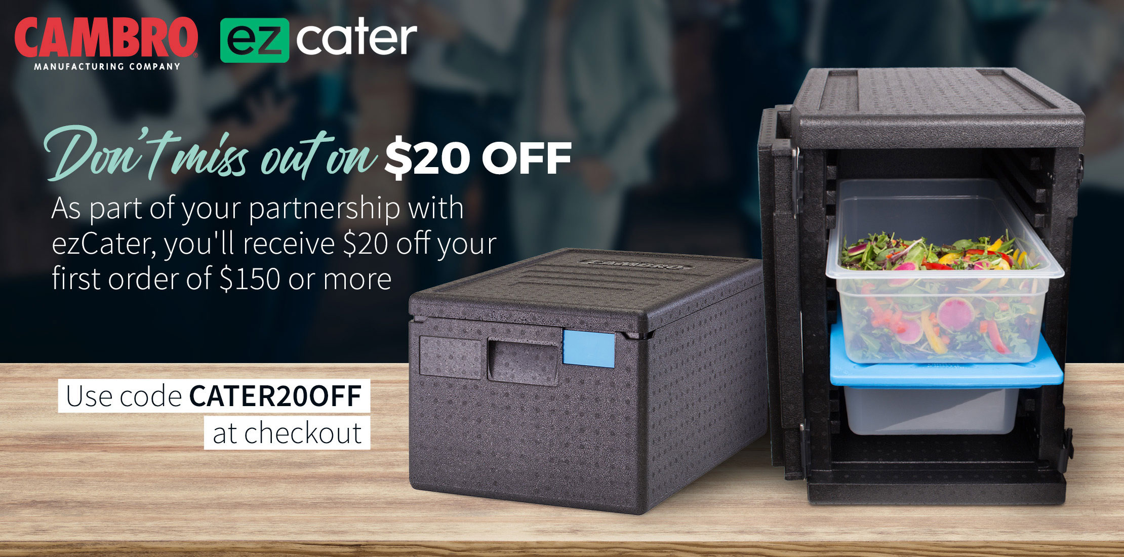 Take 5% off Cambro® catering supplies