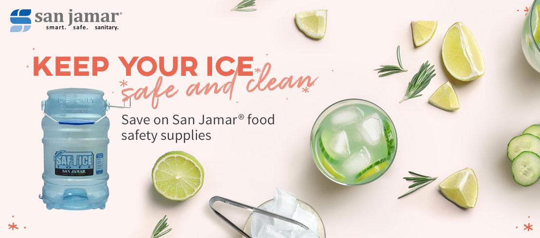 Save up to 20% on San Jamar® food safety supplies