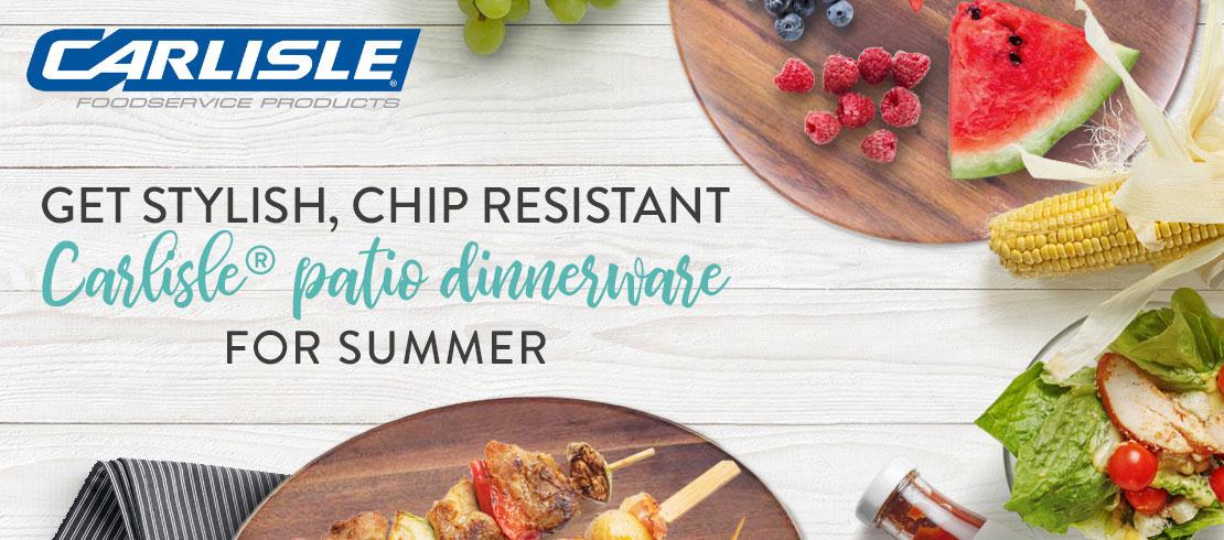 Save 10% off of Carlisle melamine dinnerware