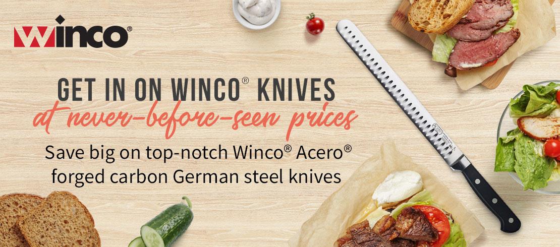 Take 25% off Winco knives