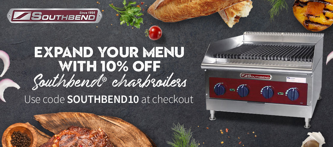 Save 10% off Southbend charbroilers