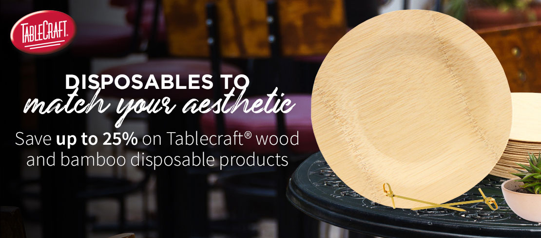 Save 25% off on Tablecraft disposables