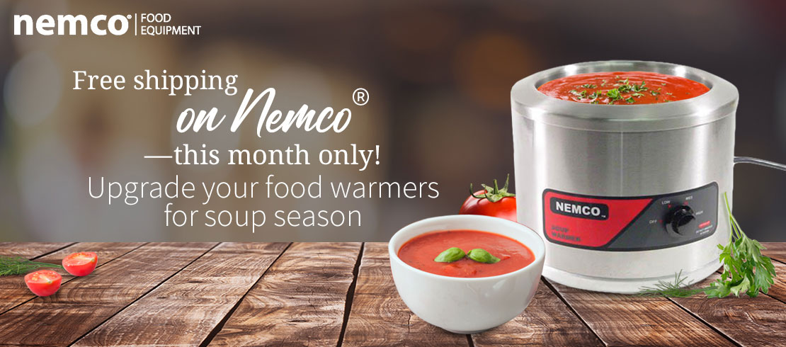 Get free shipping on Nemco