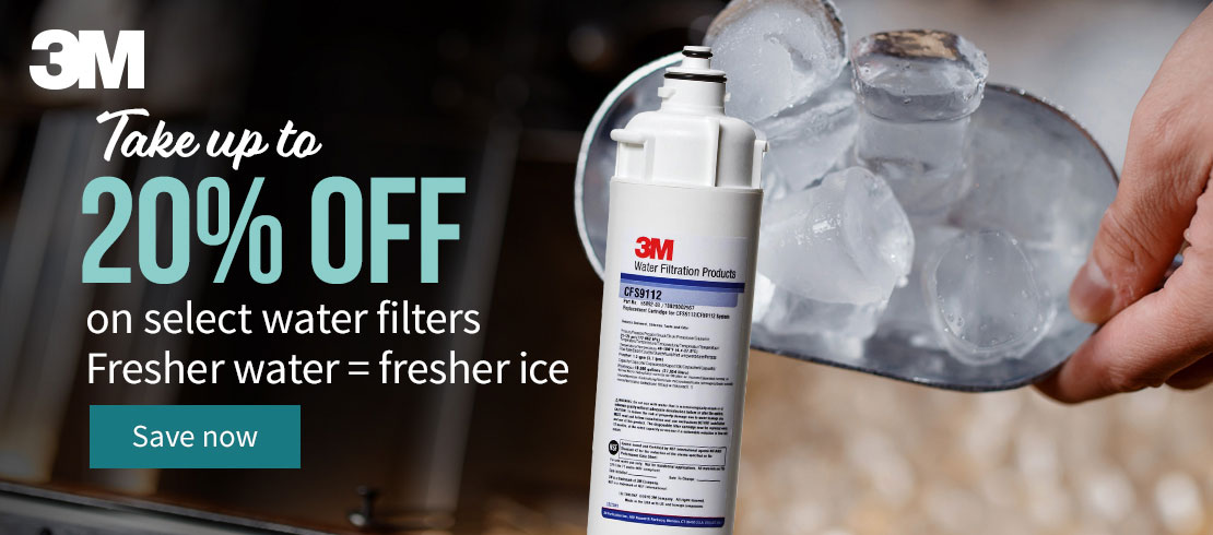 Take up to 20% off 3M water filters