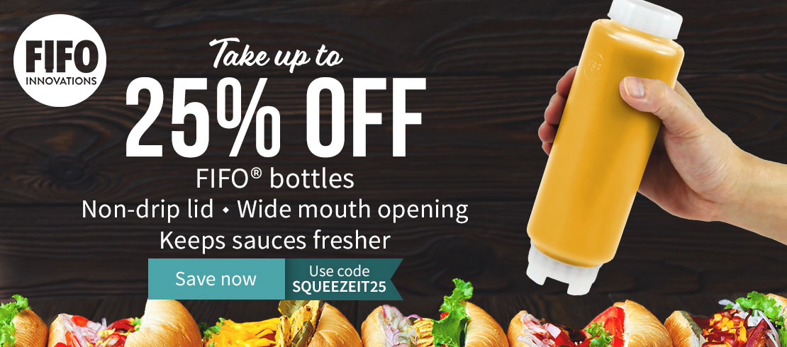 Take 25% off FIFO Squeeze Bottles