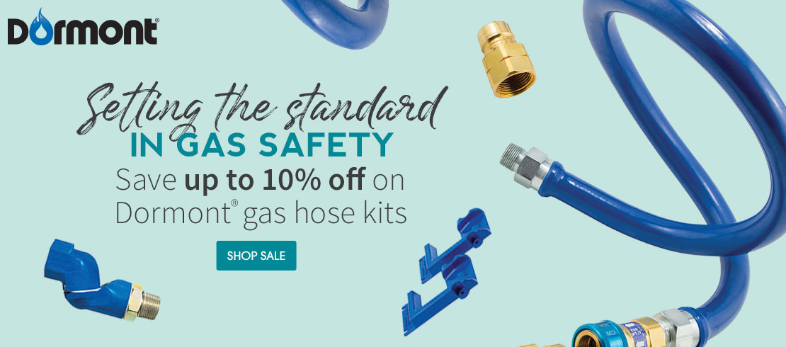 Save up to 10% off on Dormont® gas hose kits