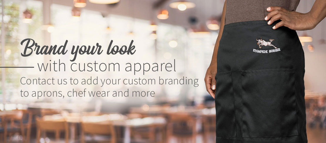 Add your custom branding to restaurant apparel