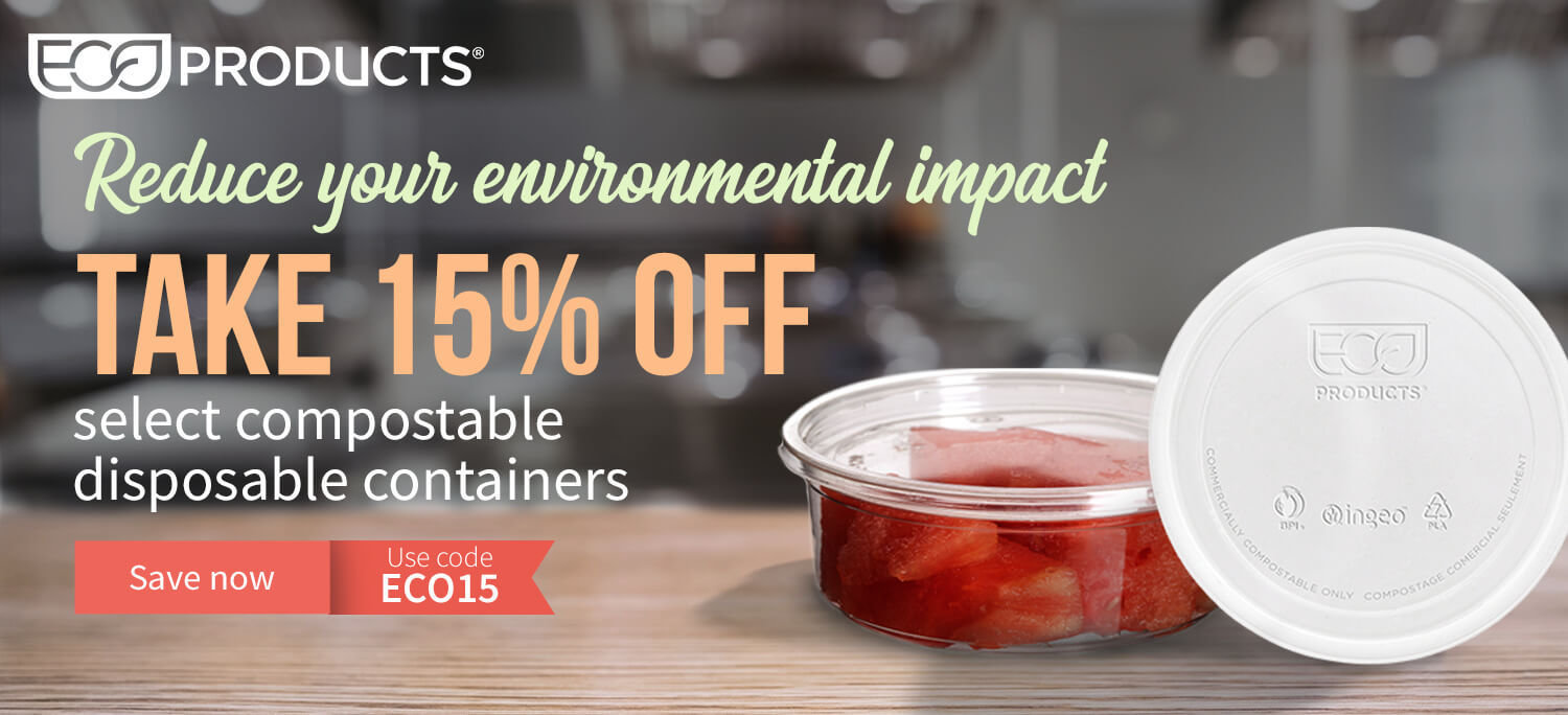 Take 15% off Eco Products disposables