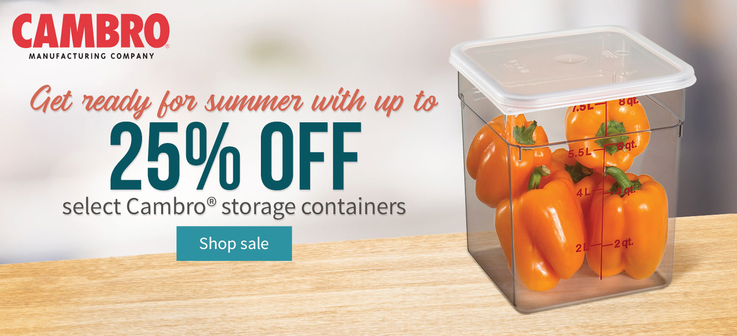 Take up to 25% off Cambro